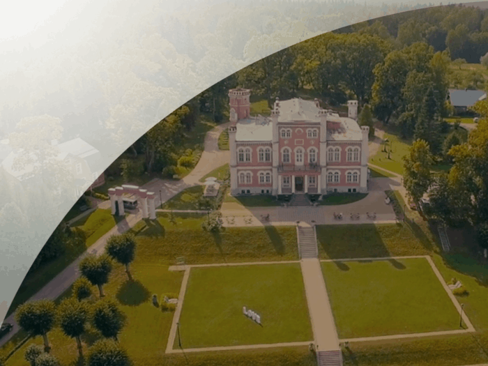 Shooting with quadrocopter wedding of Deniss and Ruta